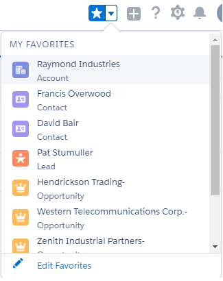 Create Bookmark using Favourite in Salesforce Lightning