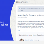 Search for Contacts Using the Account Name