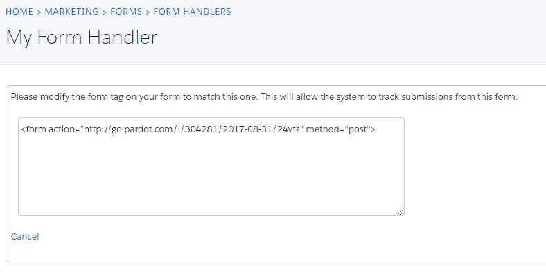 Form Handlers in Pardot