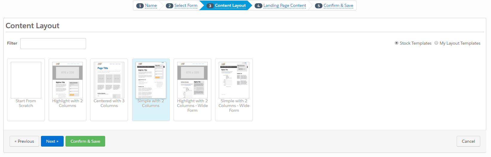 Creating a New Landing Page in Pardot