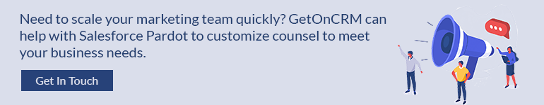 GetOnCRM can help with Salesforce Pardot to customize counsel to meet your business needs